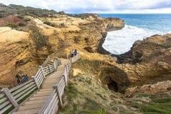 Грот, дорога океана Австралии большие и океаны и скала моря окрестностей стоковые фотографии rf