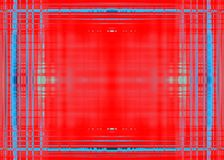 Грубая голубая граница на красном цвете Стоковая Фотография RF
