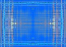 Грубая голубая предпосылка рамки границы Стоковая Фотография