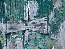 Грубая деревянная предпосылка с краской etc шелушения Стоковые Изображения RF