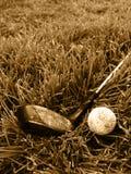 грубая золота клуба шарика старая Стоковые Фото