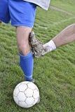 Грубая игра футбола Стоковое фото RF