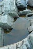 грубая каменная структура, живая природа северная Стоковая Фотография