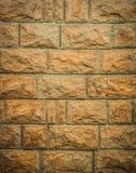 Грубая каменная текстура кирпичной стены Стоковые Фото