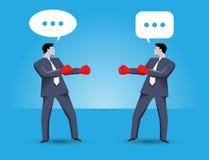 Грубая концепция дела переговоров бесплатная иллюстрация