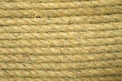 Грубая коричневая веревочка для предпосылки и текстуры Стоковое фото RF