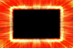 Грубая красная и желтая граница sunburst Стоковая Фотография