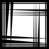 Грубая нервная картина, текстура с случайным, хаотическим острым triangula Стоковая Фотография