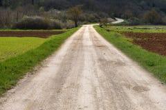 Грубая дорога вперед Стоковое Изображение RF