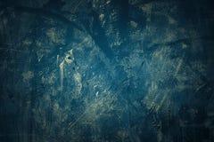 Грубая предпосылка цвета Navi в стиле grunge Неровная картина с трассировками царапин предпосылка или текстура Стоковое Изображение