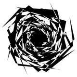 Грубый, нервный текстурированный геометрический элемент абстрактная черная белизна иллюстрация штока