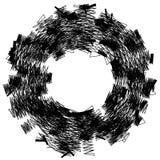 Грубый, нервный текстурированный геометрический элемент абстрактная черная белизна бесплатная иллюстрация