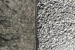 Грубый цемент текстуры и белый камень Стоковая Фотография