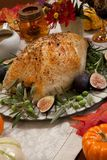Грудь Турции среднеземноморского стиля вся зажаренная в духовке Стоковое Фото