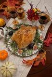 Грудь Турции среднеземноморского стиля вся зажаренная в духовке Стоковое фото RF