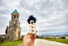Грузинская марионетка около церков в Kutaisi Стоковые Изображения
