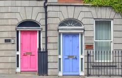 Грузинские двери в городе Дублина Стоковое Изображение