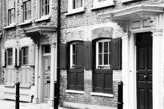 Грузинские Huguenot террасные дома Стоковая Фотография RF