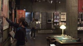 Грузинский интерьер Национального музея в Тбилиси, Georgia 11 10 2017 сток-видео