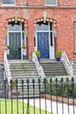 2 грузинских двери, Дублин, Ирландия Стоковая Фотография RF