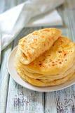 Грузинское khachapuri плоский торт с сыром Стоковые Фотографии RF