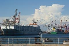 грузите корабли гавани стоковое фото rf