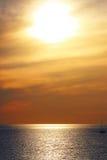 Морской заход солнца Стоковое Изображение
