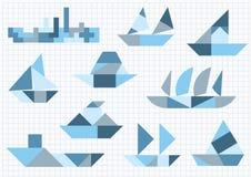 Грузит различный Tangram бесплатная иллюстрация