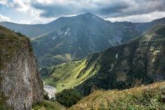 Грузия Взгляд долины от высоты Стоковая Фотография
