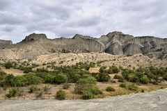 Грузия, национальный парк Vashlovani, Kakheti стоковое изображение rf