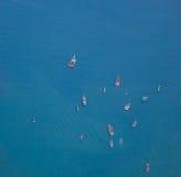 Грузовие корабли на море в Хайфоне, Вьетнаме Стоковые Фото