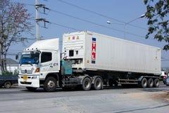 Грузовик груза контейнера совершенного перехода трейлера Стоковые Фото