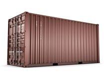 грузовой контейнер перевода 3D иллюстрация вектора