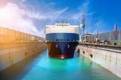 грузовой корабль для ремонта корабля Стоковые Изображения RF