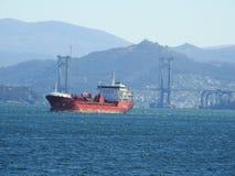 Грузовой корабль конструированный для перехода Стоковая Фотография