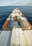 Грузовой корабль и горизонт контейнера Стоковая Фотография