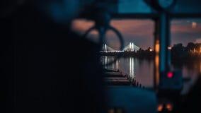 Грузовой корабль на навигации реки видеоматериал
