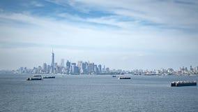 Грузовой корабль на Нью-Йорке Стоковые Изображения RF
