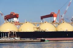 Грузовой корабль LPG стоковые изображения rf