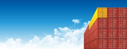 Грузовые контейнеры доставки для снабжений и транспорта иллюстрация вектора