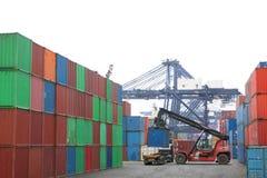 грузоподъемник контейнера Стоковые Фотографии RF