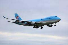 Груз Боинг 747 Korean Air стоковое фото rf
