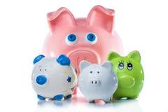 группа банков piggy Стоковая Фотография