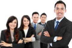 Группа в составе азиатский молодой предприниматель стоковая фотография rf