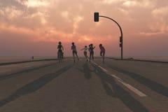 группа в составе бег женщин стоковое фото