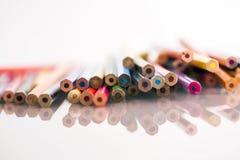 Группа в составе беспредметные покрашенные карандаши Стоковые Фотографии RF