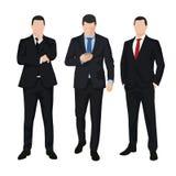 Группа в составе 3 бизнесмена, бизнесмены бесплатная иллюстрация