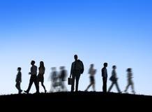 Группа в составе бизнесмены в движении Стоковые Изображения RF