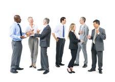 Группа в составе бизнесмены говорить Стоковое фото RF