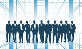 Группа в составе бизнесмены концепция дела команды иллюстрация штока